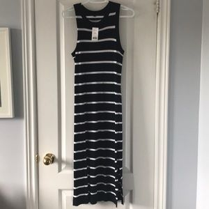 NWT Blue and white tank dress sz med